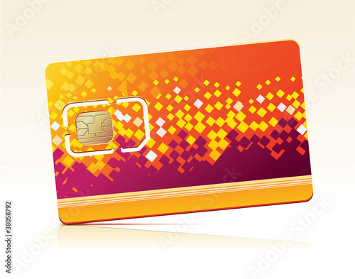 Vector illustration of SIM Card.