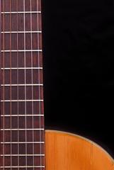 Classic Guitar (Spanish) fretboard, black background.