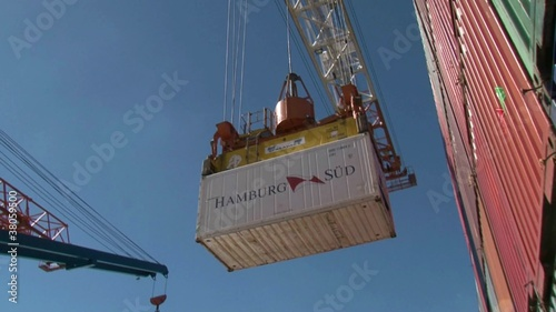 container loaded to ship
