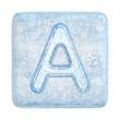 Ice cubes Font. Letter A