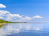Chudsky lake. Pskov region. Russia poster