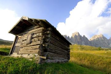 Berghütte in den Alpen - Dolomiten