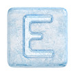 Ice cubes Font. Letter E