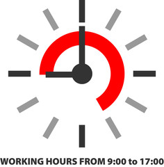 WORKING HOURS FROM 9:00 to 17:00