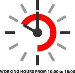 WORKING HOURS FROM 10:00 to 18:00
