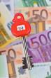 Viele Euro Geldscheine im Tresor