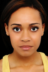 Beautiful Twenty Year Old Black Woman Up Close