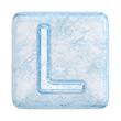 Ice cubes Font. Letter L