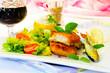 Fischfilet auf Blattsalat