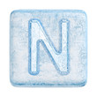 Ice cubes Font. Letter N