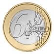 Six euro coin
