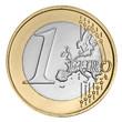 Leinwanddruck Bild - One  euro coin