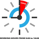 WORKING HOURS FROM 9:00 to 18:00