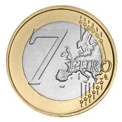 Seven euro coin