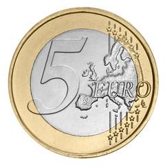 Five euro coin