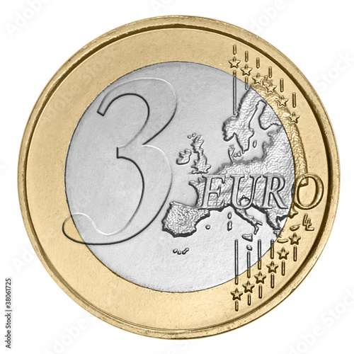 Three euro coin