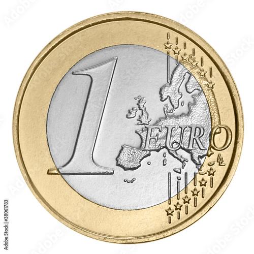 Leinwanddruck Bild One  euro coin