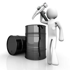 Öl Arbeiter