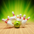 Bowling Strike grün