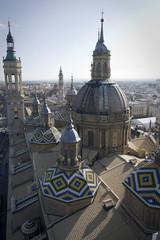 cupole della basilica del pilar a saragozza