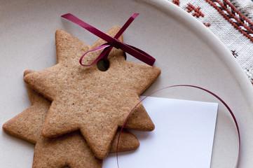 Gingerbread star cookie