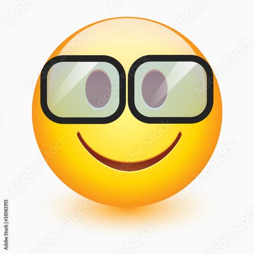 Smart Smiley Face Vector smiley face