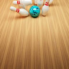 Bowling Strike Hintergrund