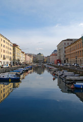 The Canal Grande with the Sant'Antonio Nuovo church, Trieste