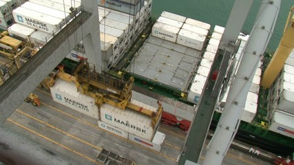 View from Gantry crane