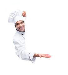 Professional chef man.