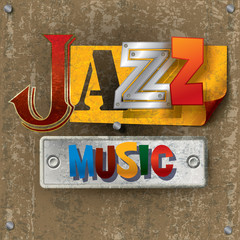 Abstract background with the word jazz