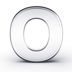 The letter O in glass