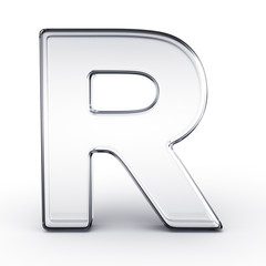 The letter R in glass