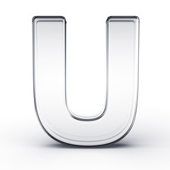 The letter U in glass