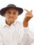 the F finger of a very old woman