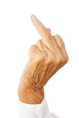 the f-finger of an old woman
