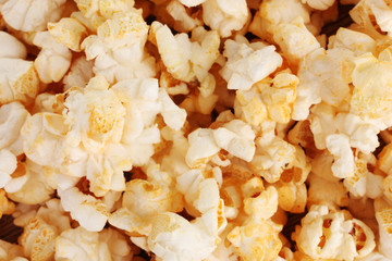 tasty popcorn closeup