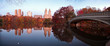 Fall dawn panorama in Central Park, New York City