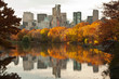 Fall dawn in Central Park, New York City