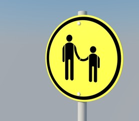 Yellow Family in sign