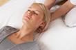 canvas print picture - Woman having Shiatsu massage to head