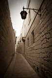 Fototapety Retro photo of  narrow town street