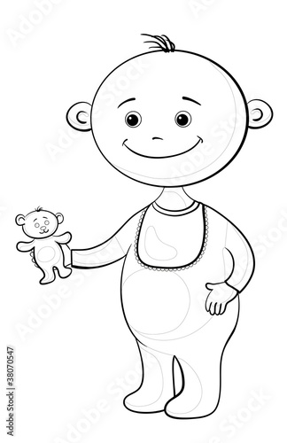 泰迪熊漫画熊玩玩具生日男孩白色礼物童年绘图老式艺术载体黑色see