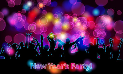 Beautiful New Year's party illustration