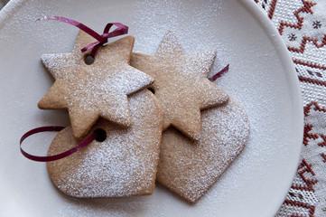 Various shaped cookies