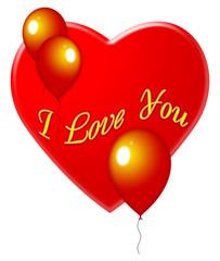 Валентинка с шариками