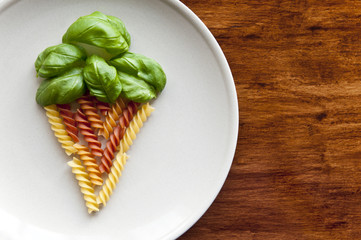 Ice cream from a colorful pasta
