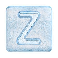 Ice cubes Font. Letter Z