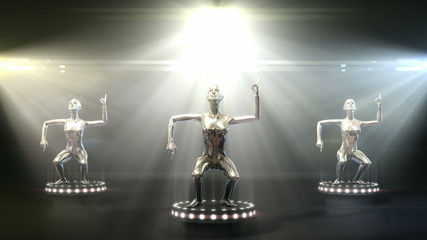 Dancing metal models