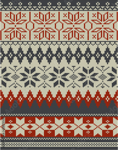 Nordic knitting pattern
